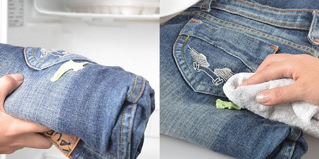 Жевательная резинка на одежде